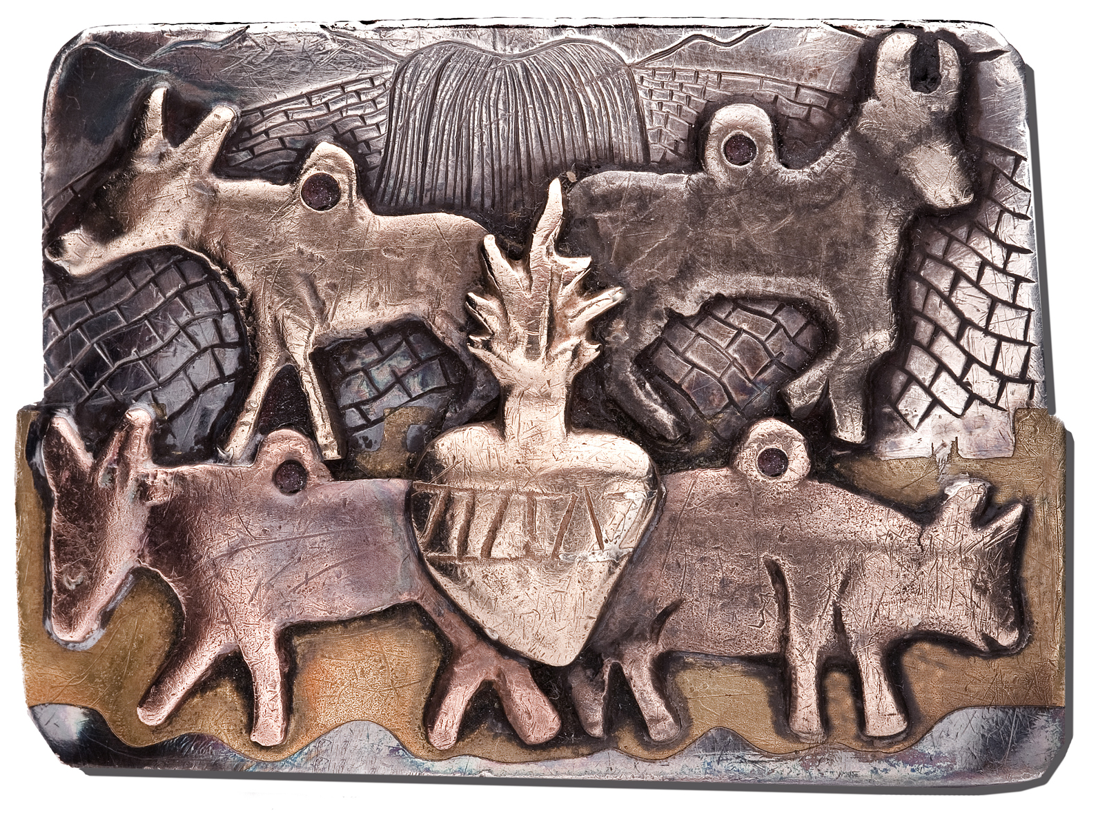Belt Buckle -- Mexican Milagros