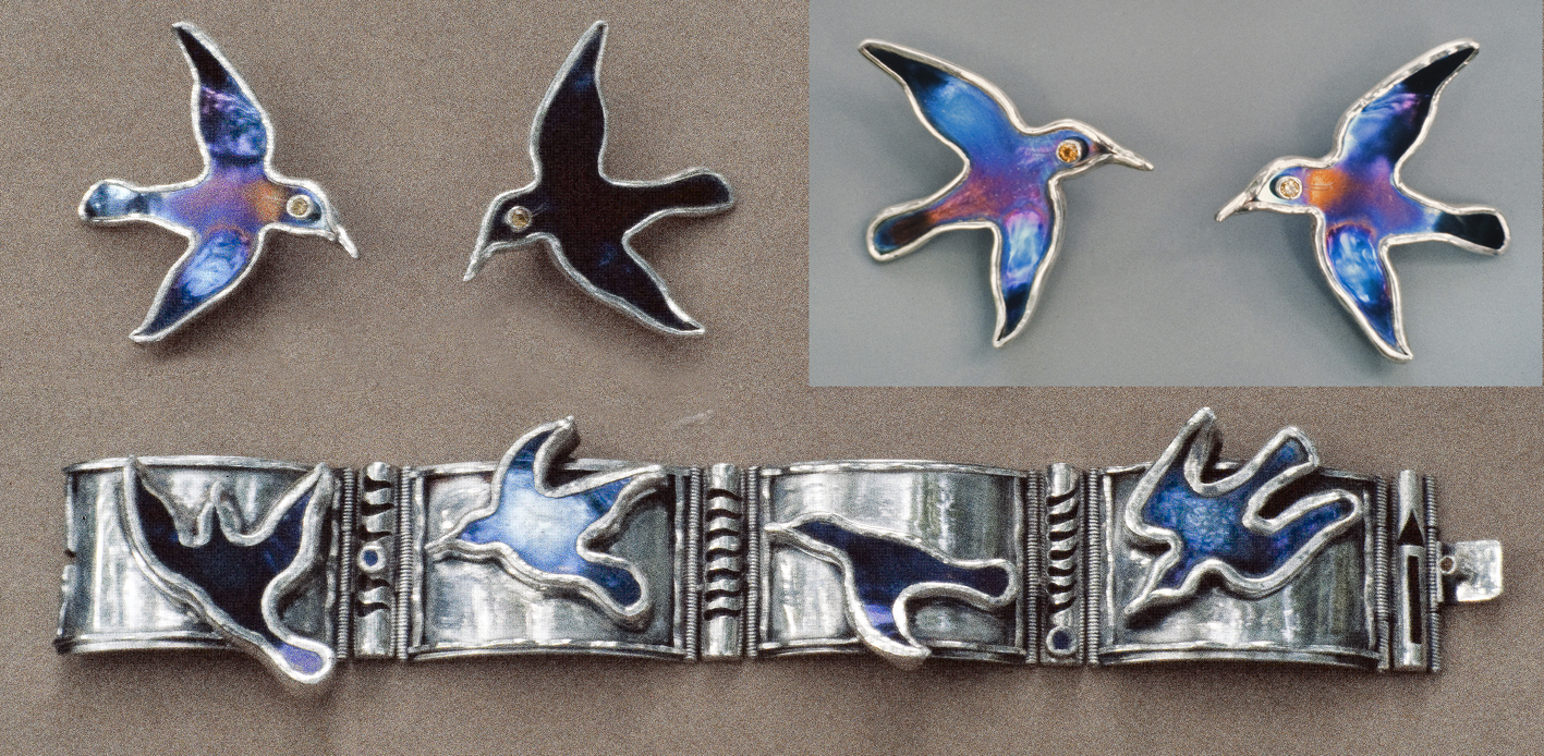 Bird Bracelet & Earrings x 4 SAF